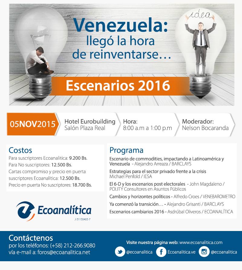 Foro Perspectivas 2015 - Venezuela: llegó la hora de reinventarse...